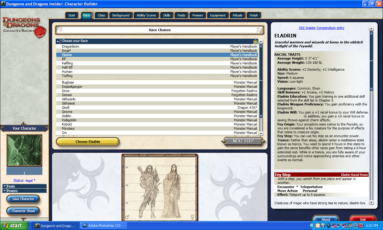 Dungeons and dragons character builder